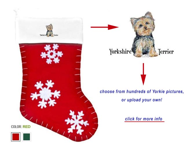 Yorkie Yorkshire Terrier Christmas Cards Ornaments