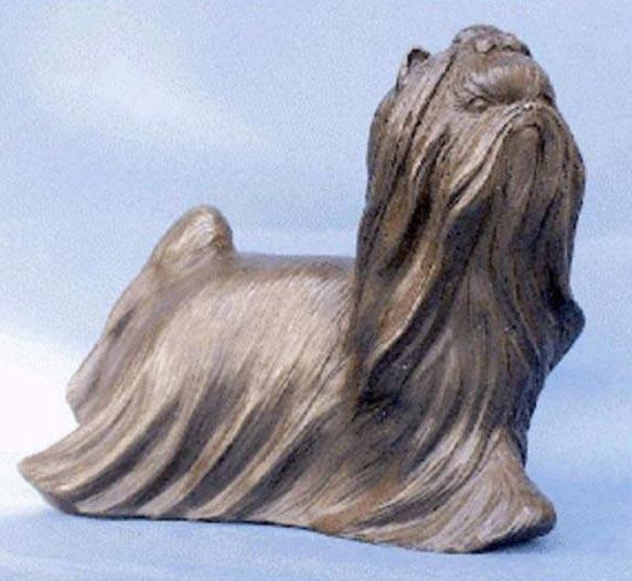 Bronze Yorkshire Terrier Sculpture