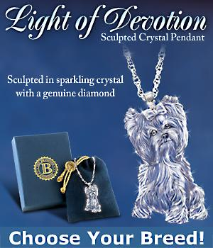 crystal dog breed pendant