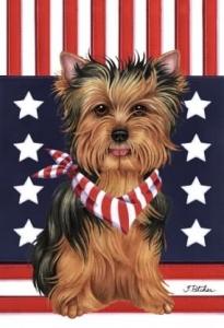 ... Yorkie Patriot Flag