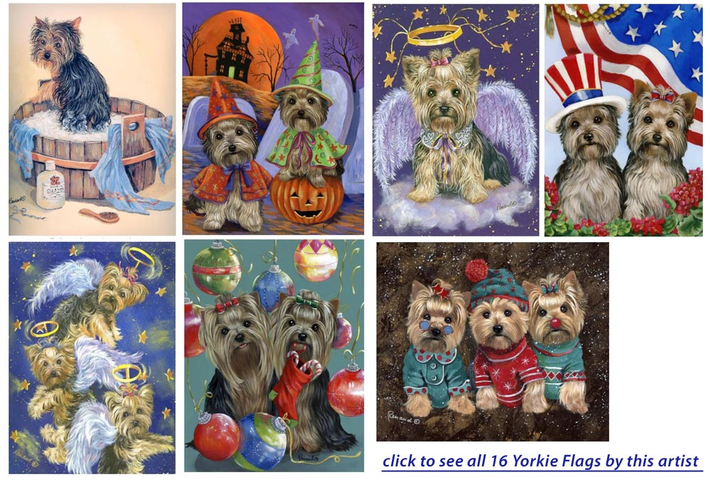 Exceptionnel Yorkie House And Garden Flags