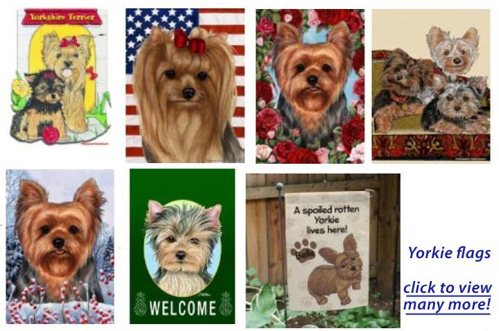 Merveilleux ... Terrier Weathervane, Yorkshire Terrier Flags